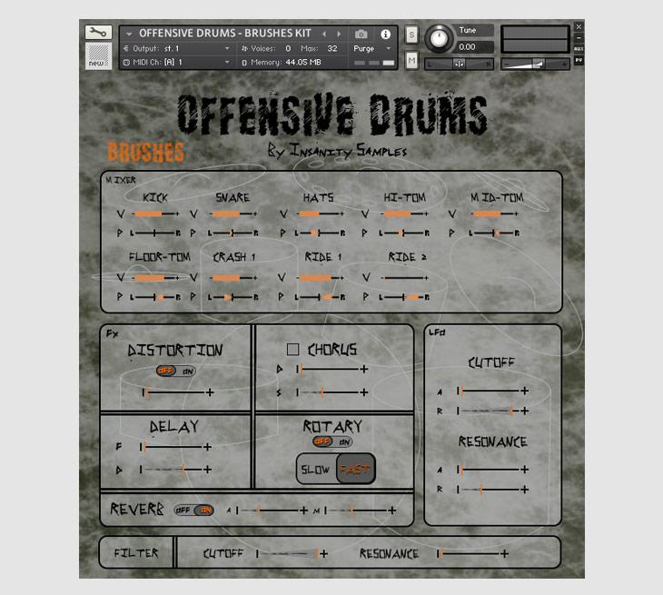Insanity Samples Offensive Drums KONTAKT