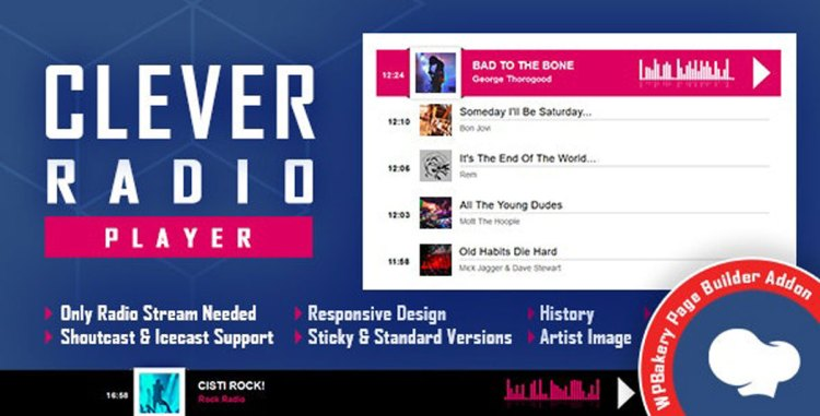 CLEVER – Shoutcast and Icecast Radio Player for WPBakery Page Builder v1.0 – 27870026