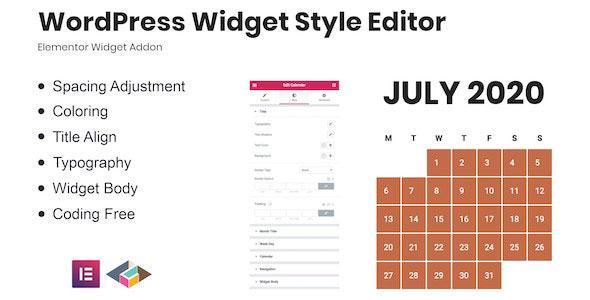 CodeCanyon WordPress Widget Style Editor Elementor Addon v1 27834530