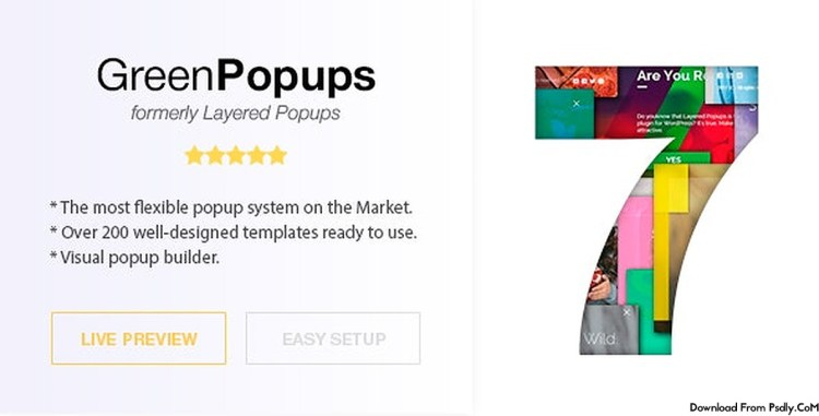 Popup Plugin for WordPress – Green Popups (formerly Layered Popups) v7.05 – 5978263