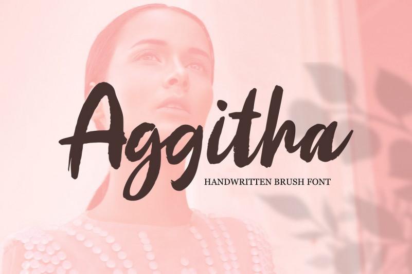 Aggitha Brush Font !