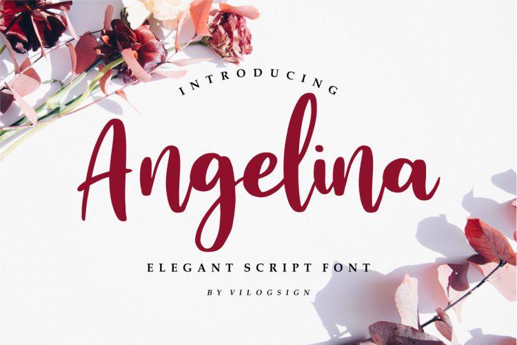 Angelina Playful Script Font !