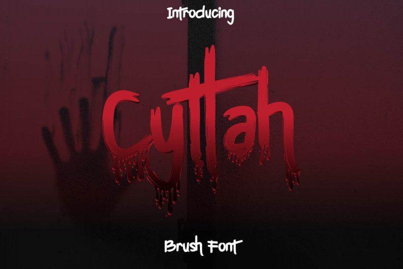 Cyttah Graffiti Font !