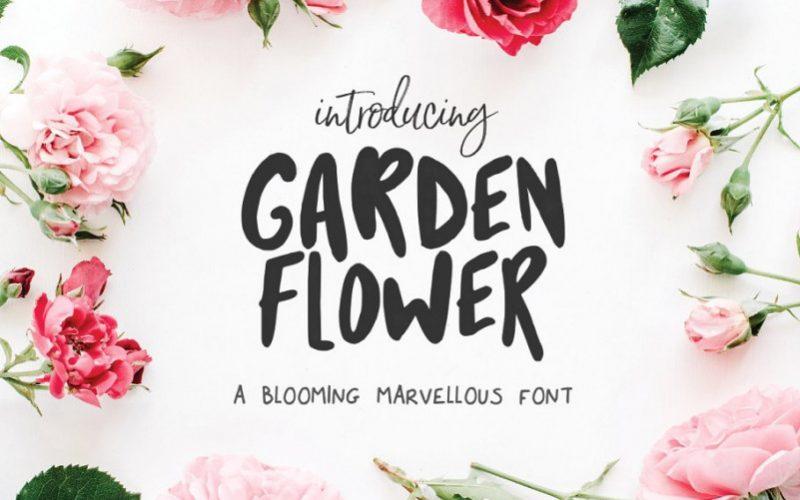 Garden Flower Script Font !