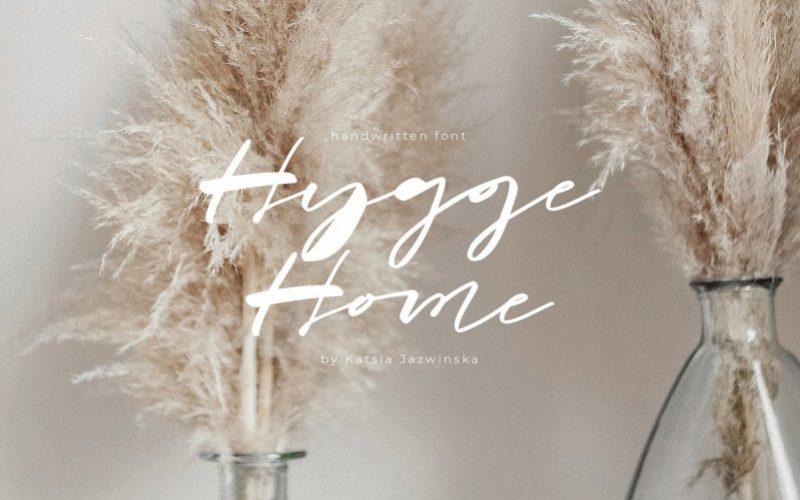 Hygge Home Brush Font !