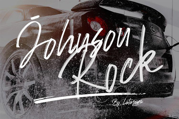 Johnson Rock Brush Font !