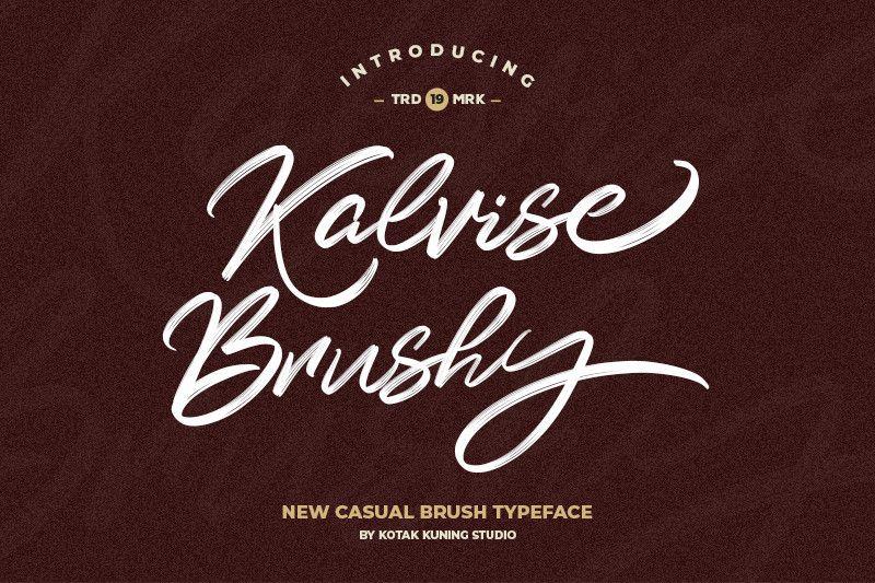 Kalvise Brushy Script Font !