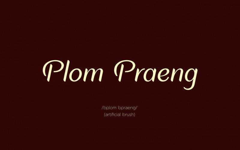 Plom Praeng Script Font !