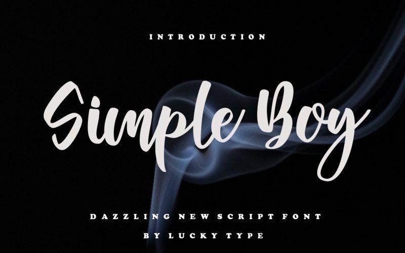 Simple Boy Script Font !