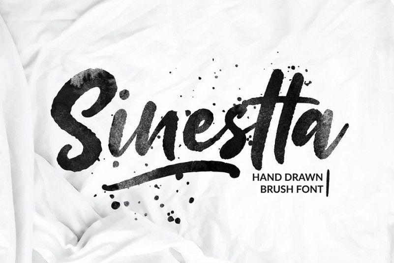 Sinestta Brush Font !