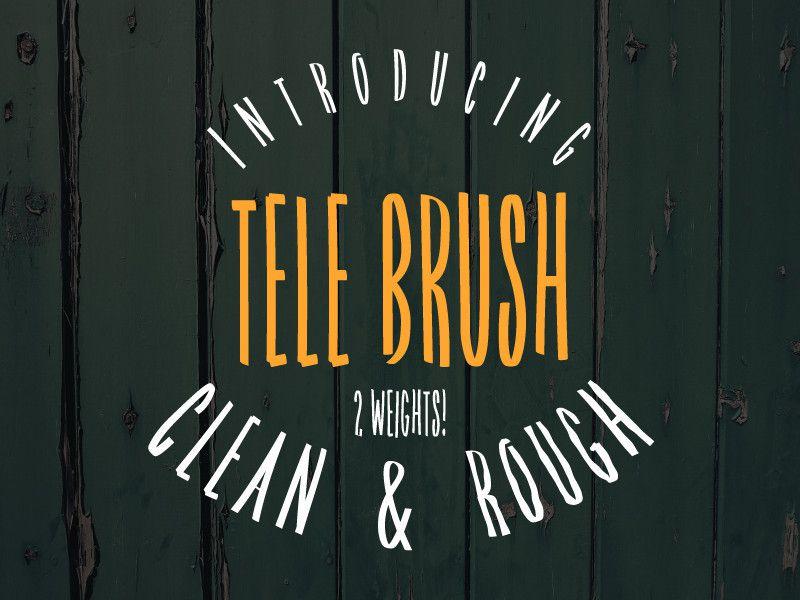 Tele Brush Typeface !