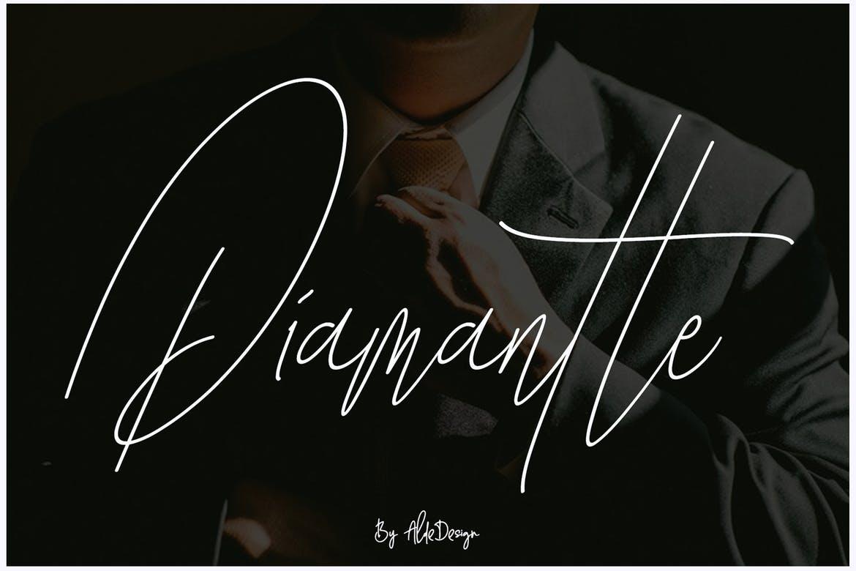 Diamante Signature Font !