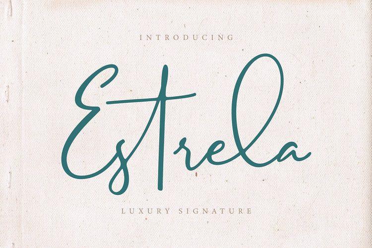 Estrela Luxury Signature Font !