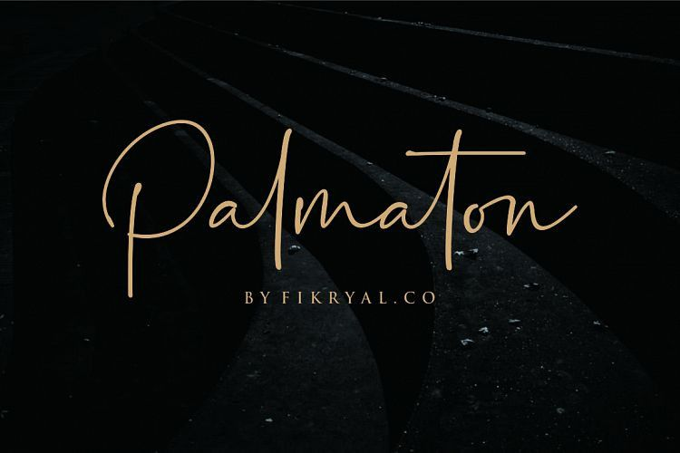 Palmaton Handwritten Font !