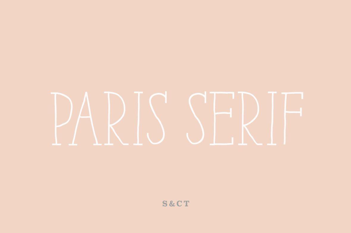 Paris Serif Font Family !